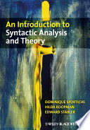 An Introduction to Syntactic Analysis and Theory