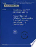 Foreign Agent Registration