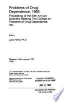 Problems of Drug Dependence