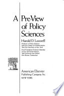 A Pre-view of Policy Sciences