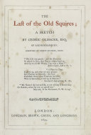Pdf The Last of the Old Squires