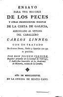 Ensayo para una historia de los peces ... de la costa de Galicia