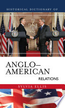 Historical Dictionary of Anglo American Relations Book