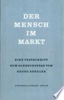 Der Mensch Im Markt