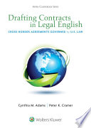 Drafting Contracts in Legal English Book PDF