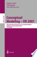 Conceptual Modeling   ER 2001 Book