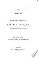The Library Of Anglo Catholic Theology Works Of The Most Reverend Father In God William Laud D D 1847 60
