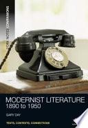 Modernist Literature, 1890-1950