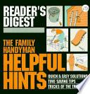 The Family Handyman Helpful Hints