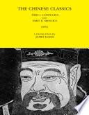 The Chinese Classics Part I Confucius And Part Ii Mencius 1891