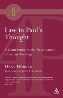Law in Paul's Thought Pdf/ePub eBook