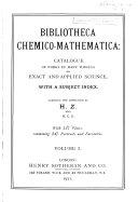 Bibliotheca Chemico-mathematica