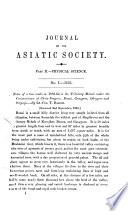 Journal Of The Asiatic Society Of Bengal 2 Journal Of The Asiatic Society Of Bengal Part 2 Natural Science