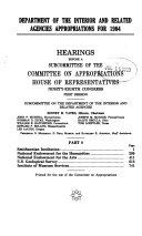 Department of the Interior and Related Agencies Appropriations for 1984  Smithsonian Institution