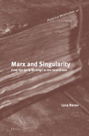 Marx and Singularity