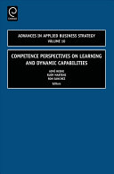 Pdf Competence Perspectives on Learning and Dynamic Capabilities