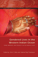 Gendered Lives in the Western Indian Ocean Book
