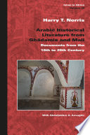 Arabic Historical Literature From Ghad Mis And Mali
