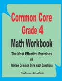 Common Core Grade 4 Math Workbook