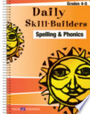 Daily Skill Builders  Spelling and Phonics 4 5 Book