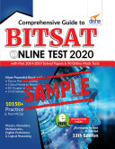 FREE SAMPLE  Comprehensive Guide to BITSAT Online Test 2020 with Past 2014 2019 Solved Papers   90 Online Mock Tests 11th edition