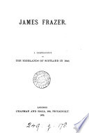 James Frazer  a reminiscence of the highlands of Scotland in 1843 Book