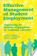 Effective Management of Student Employment
