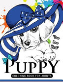 Puppy Coloring Book for Adults