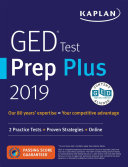 GED Test Prep Plus 2019