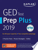 link to GED test prep plus 2019. in the TCC library catalog