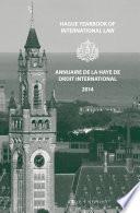 Hague Yearbook Of International Law Annuaire De La Haye De Droit International Vol 27 2014