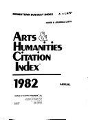 Arts Humanities Citation Index Book PDF