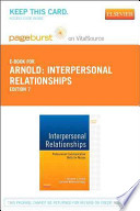 Interpersonal Relationships Pageburst on Vitalsource Retail Access Code