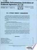 Scientific Information Activities Of Federal Agencies