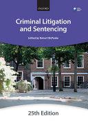 Criminal Litigation   Sentencing