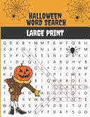Halloween Word Search Large Print