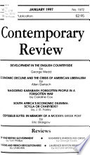 The Contemporary Review  , Volumes 270-271