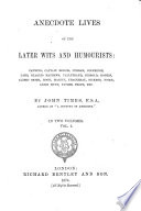 Anecdote lives of the later wits and humourists Canning  Captain Morris etc  by John Timbs Book PDF