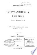 Chrysanthemum Culture for America