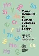 Trace Elements In Human Nutrition And Health Book PDF