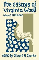 The Essays of Virginia Woolf, Volume 5 [Pdf/ePub] eBook