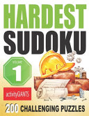Hard Sudoku Puzzles Volume 1 200 Challenging Puzzles Activity Giants