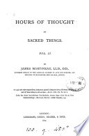 Hours of thought on sacred things, sermons