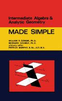 Intermediate Algebra   Analytic Geometry