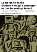 Learning to Teach Modern Languages in the Secondary School