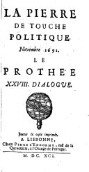 La pierre de touche politique. novembre 1691. Le rothe'e. XXVIII. Dialogue