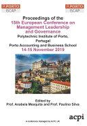 ECMLG 2019 15th European Conference on Management, Leadership and Governance Pdf/ePub eBook