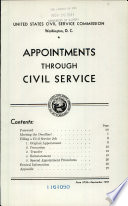 Appointments through civil service