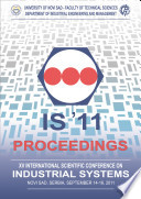 Proceedings of the XV International Scientific Conference on Industrial Systems (IS'11)