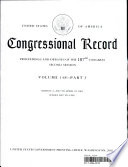 """""""Congressional Record"""" by U S Congress"""